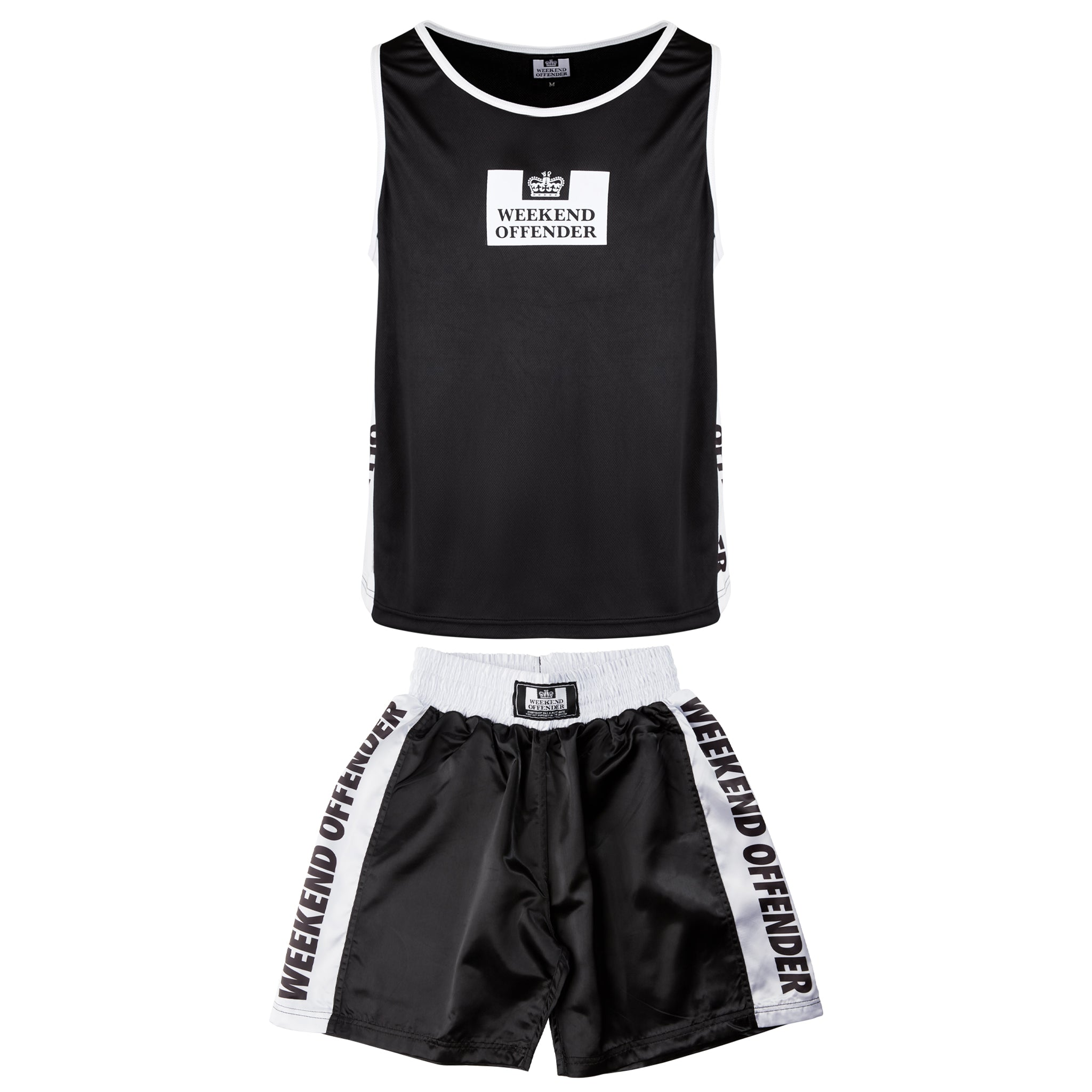 Boxing Vest and Shorts Set Black