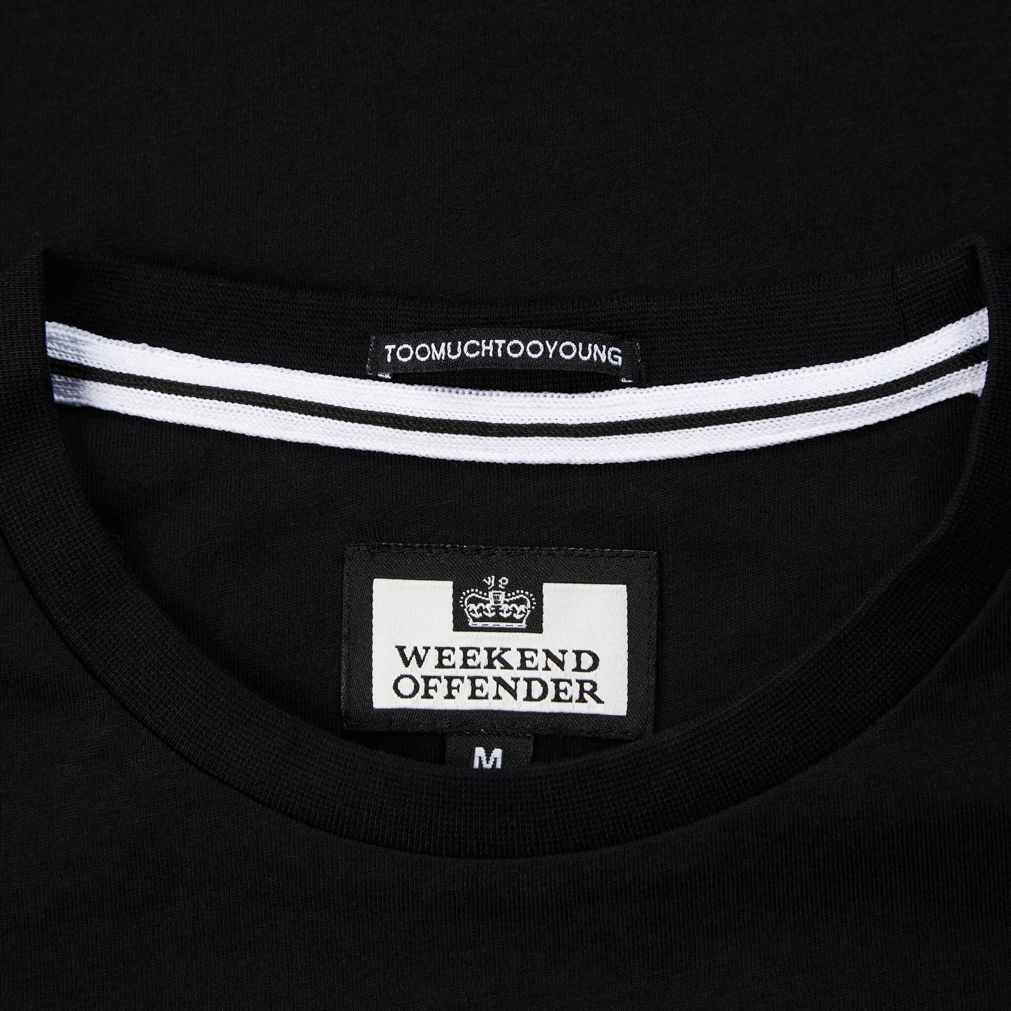 Casuals Reflective Tee Black