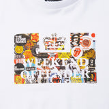 Kids Badges Tee White