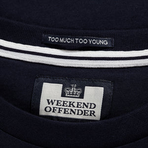 W.O.A.N. Chest Stripe Navy