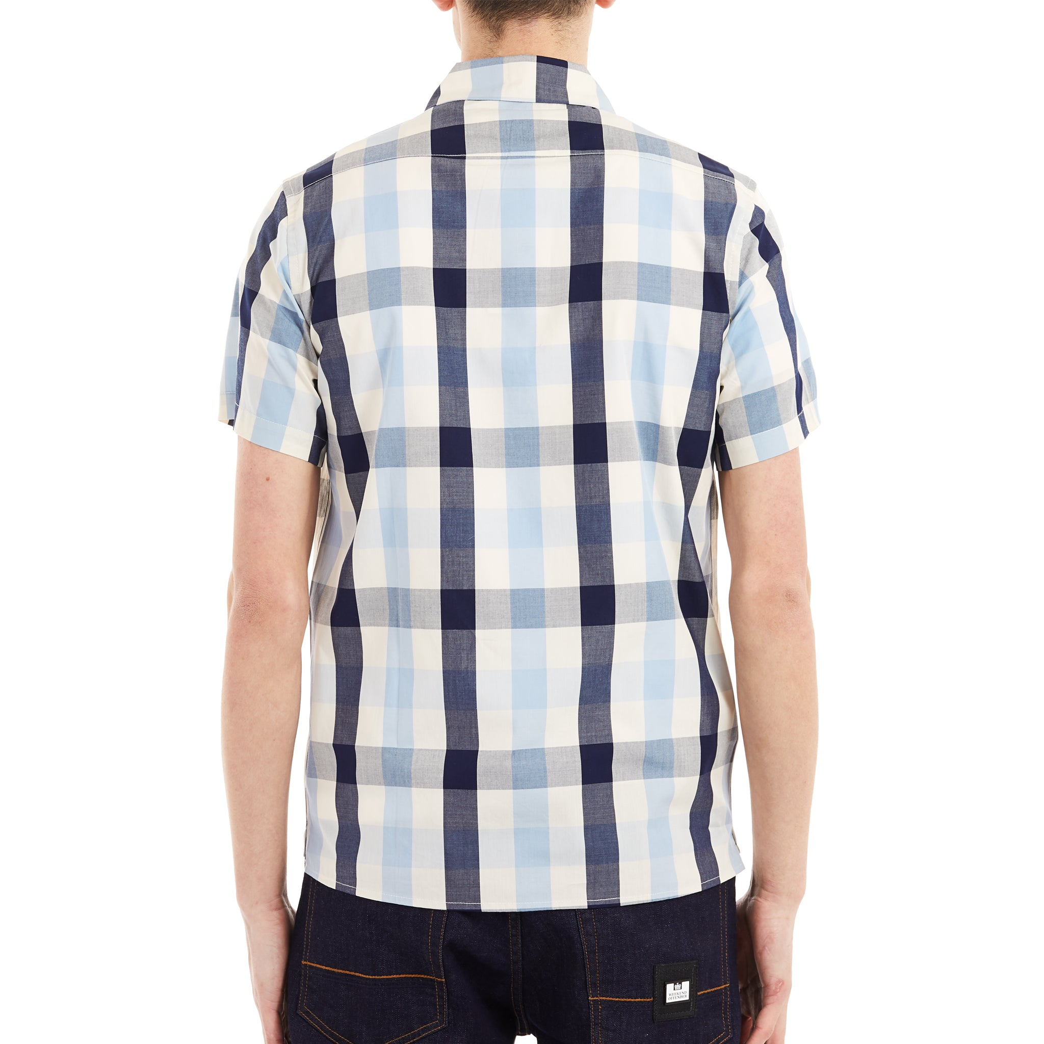 Rienzo Cream/Navy Check