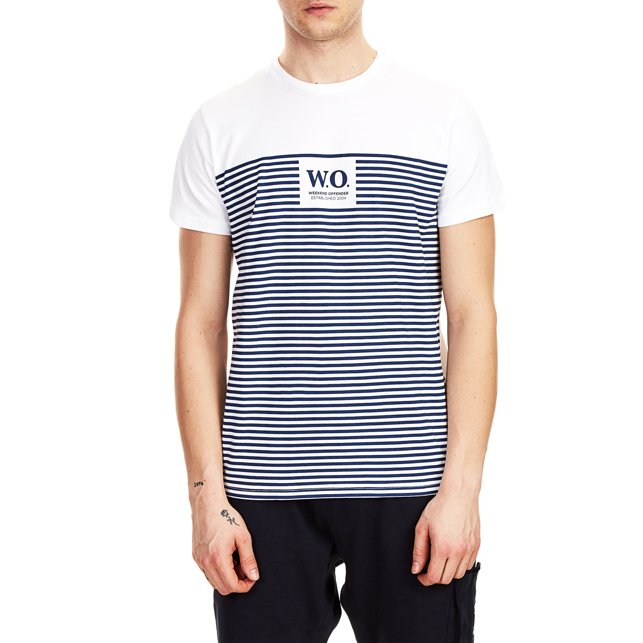 Stripes Tee White