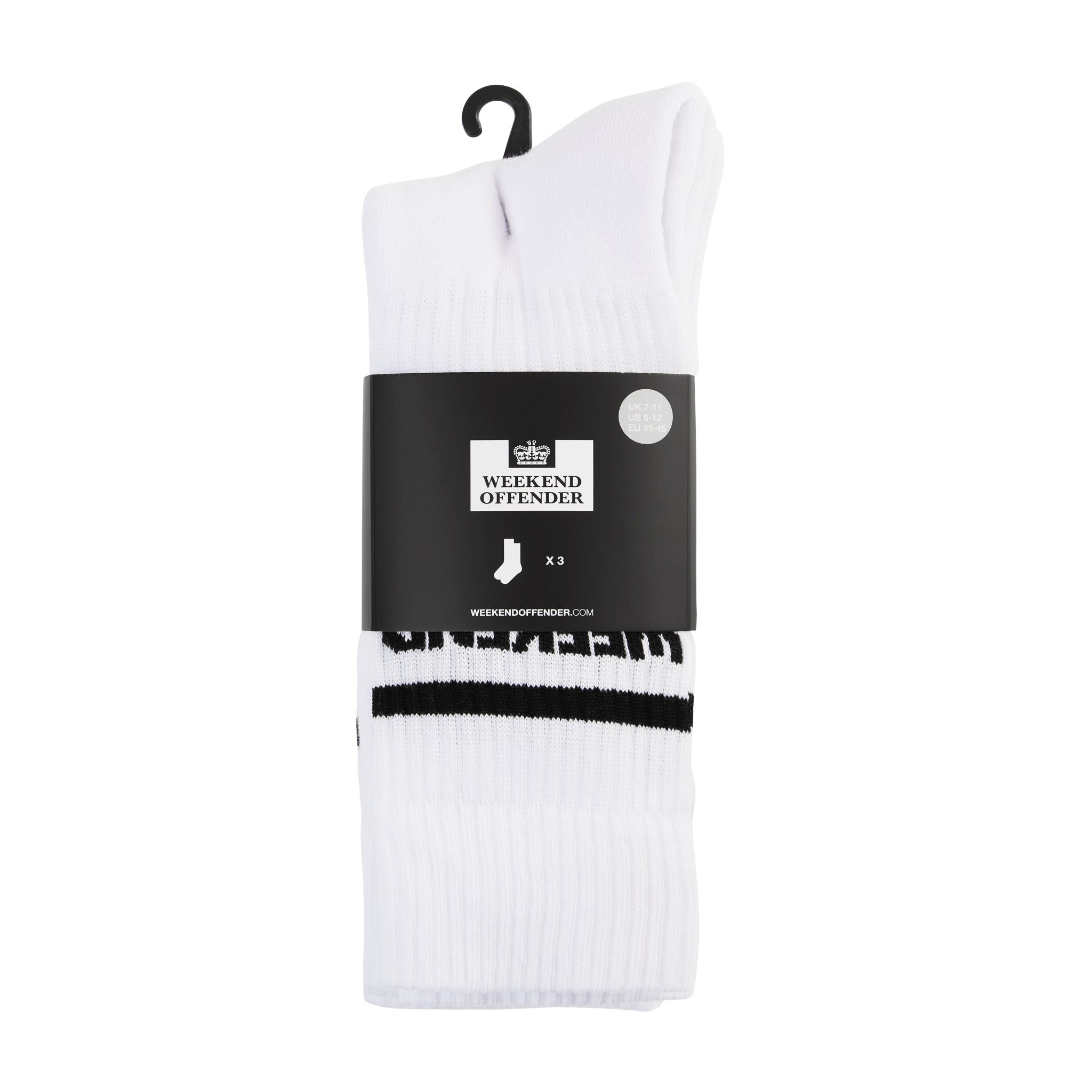 WO Sports Socks White