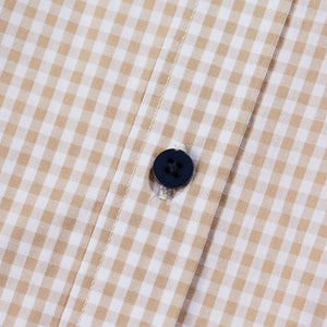 Gingham Check Stone/White