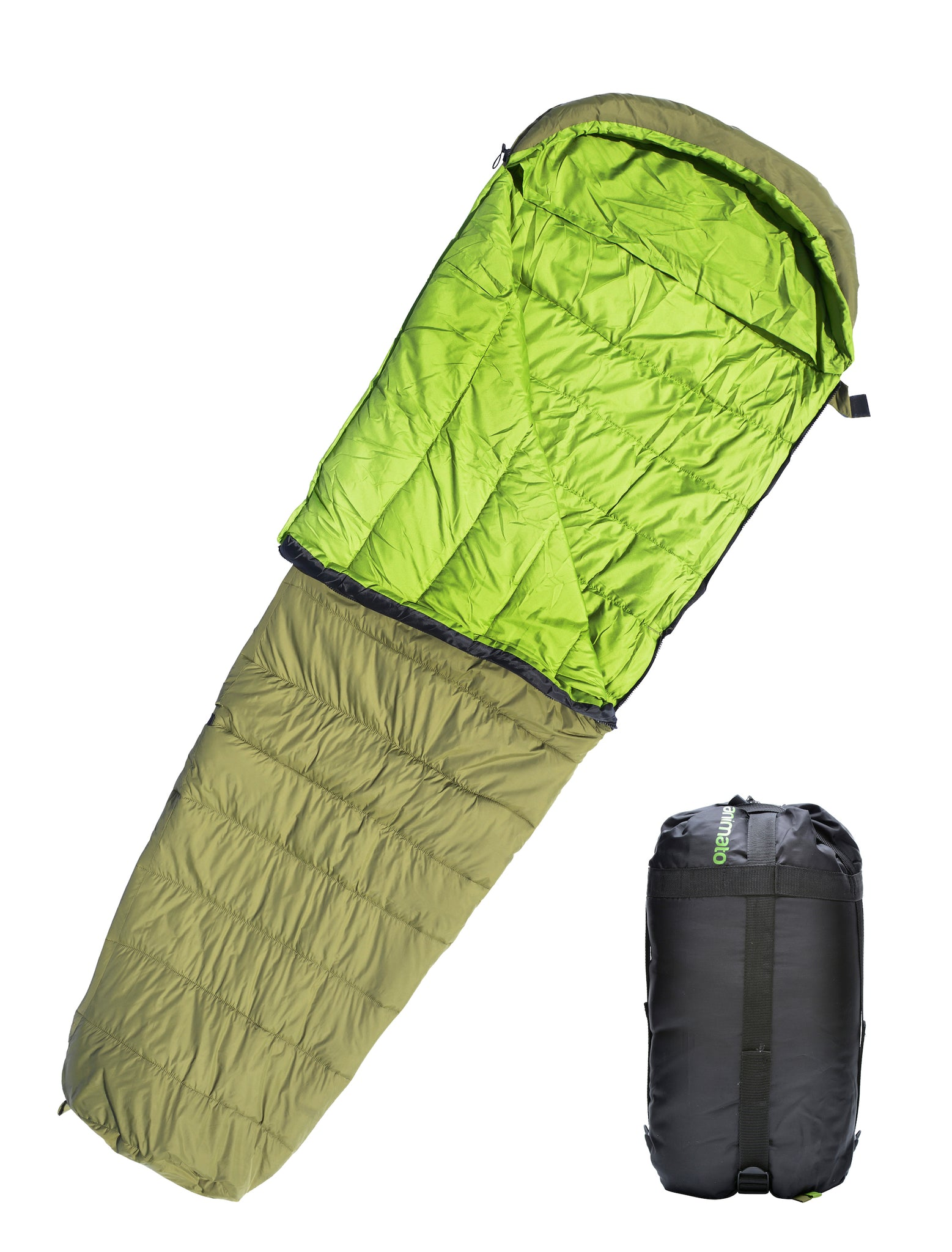 Lightweight Waterproof Mummy Sleeping Bag For Backpacking Camping Hiking Outdoors Travel Ultra Light With Compression Sack
