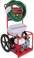 "2"" BE HPFC-2065HR Honda High Pressure Water Pump Cart With Hose and Camlock 126gpm"