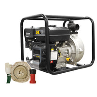 "2"" BE HPFK-2070R High Pressure Water Pump Kit With Hose and Camlock 126gpm"