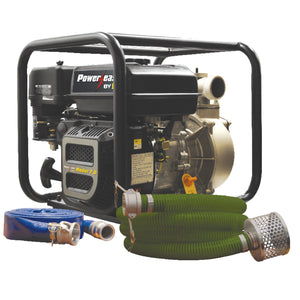 "2"" BE WPK-2065CM Water Transfer Pump Kit With Hose and Camlock 158GPM"