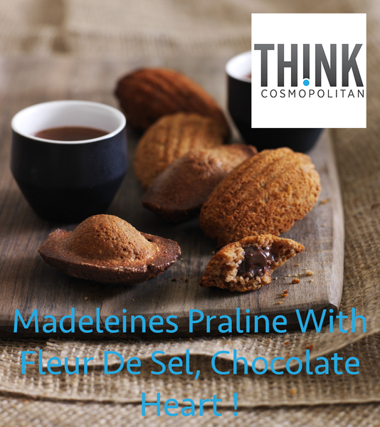 Madeleines Praline With Fleur De Sel, Chocolate Heart