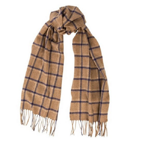 BEGG & CO - BRODICK CASHMERE SCARF - SHEPPARD NATURAL