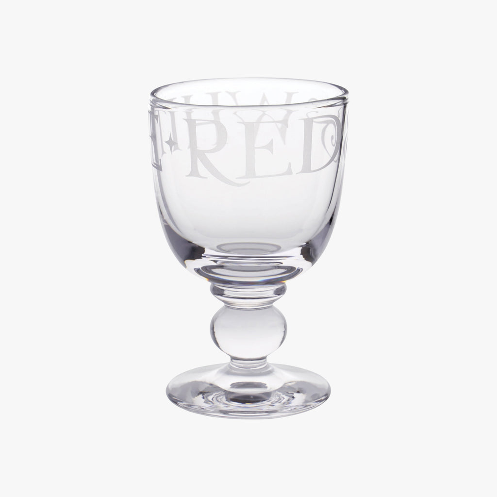 Black Toast Glass Small Wine Glass