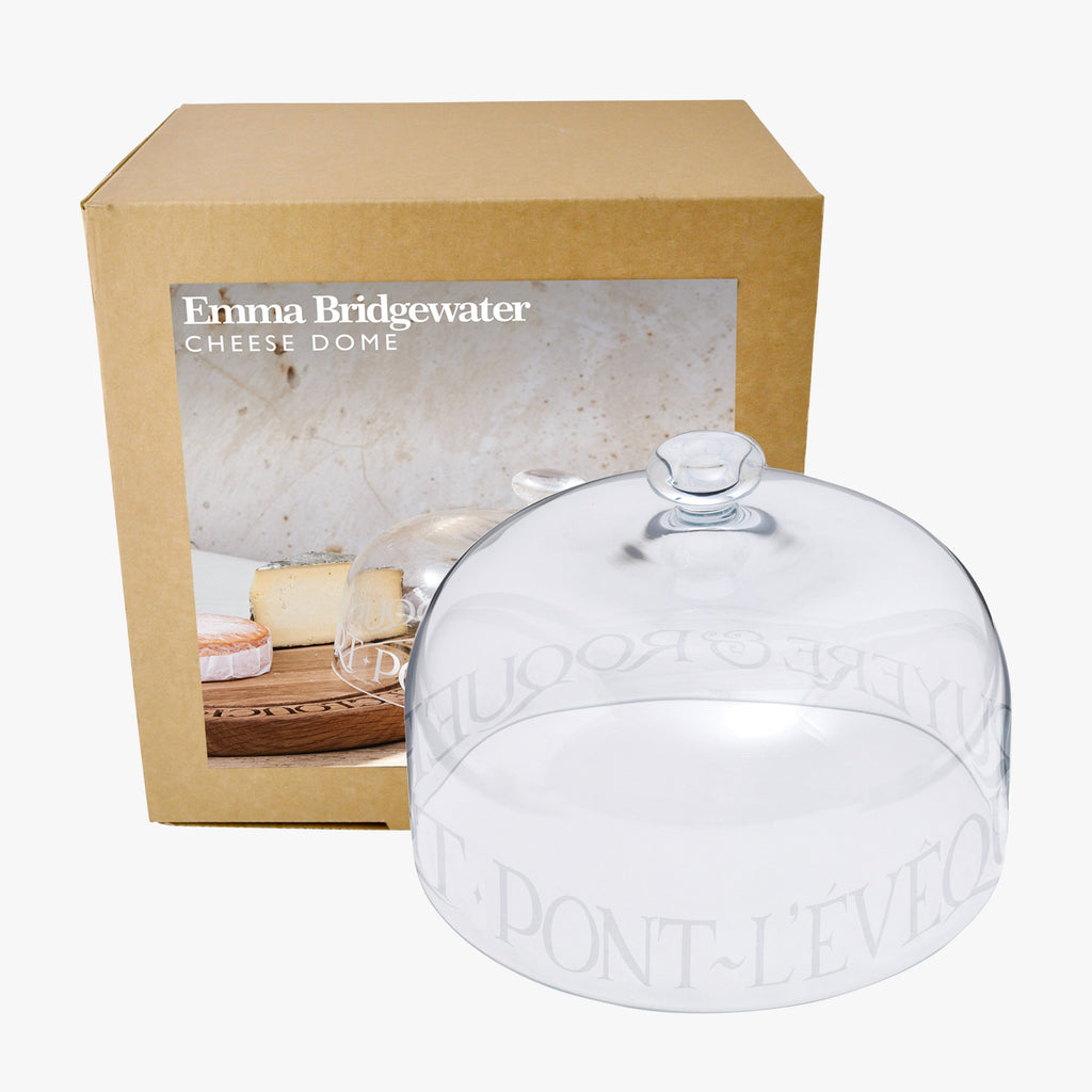Glass Cheese Dome Boxed
