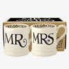 Black Toast 'Mr & Mrs' Set of 2 1/2 Pint Mugs Boxed