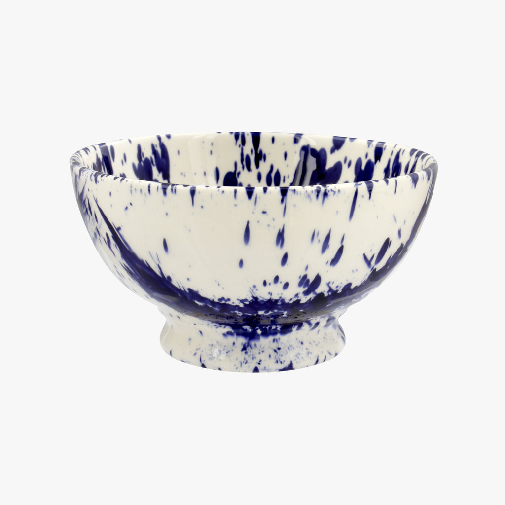Blue Splatter French Bowl