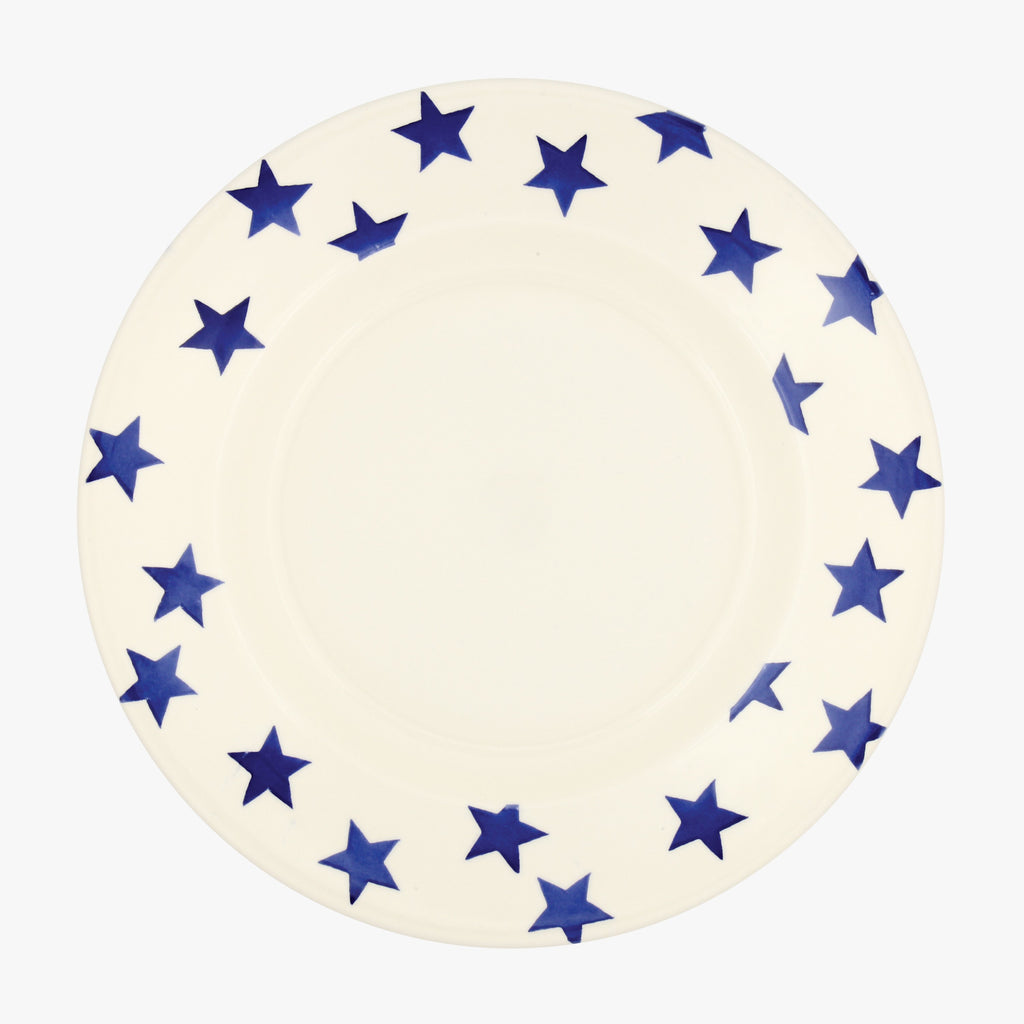 "Seconds Blue Star 10 1/2"" Plate"