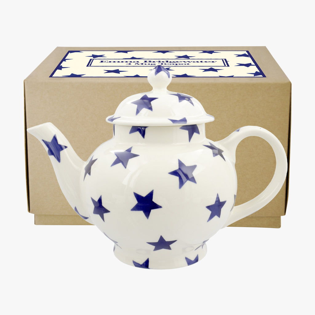 Blue Star 4 Mug Teapot Boxed