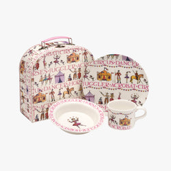 Circus 3 Piece Childrens Melamine Suitcase Set