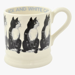 Black & White Cat 1/2 Pint Mug