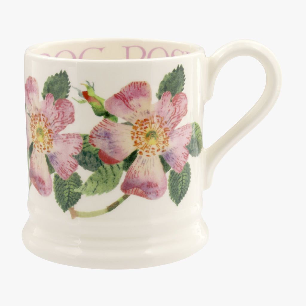 Seconds Flowers Dog Rose 1/2 Pint Mug