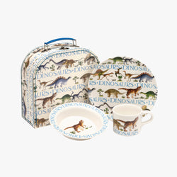 Dinosaur Melamine Childrens Suitcase Set