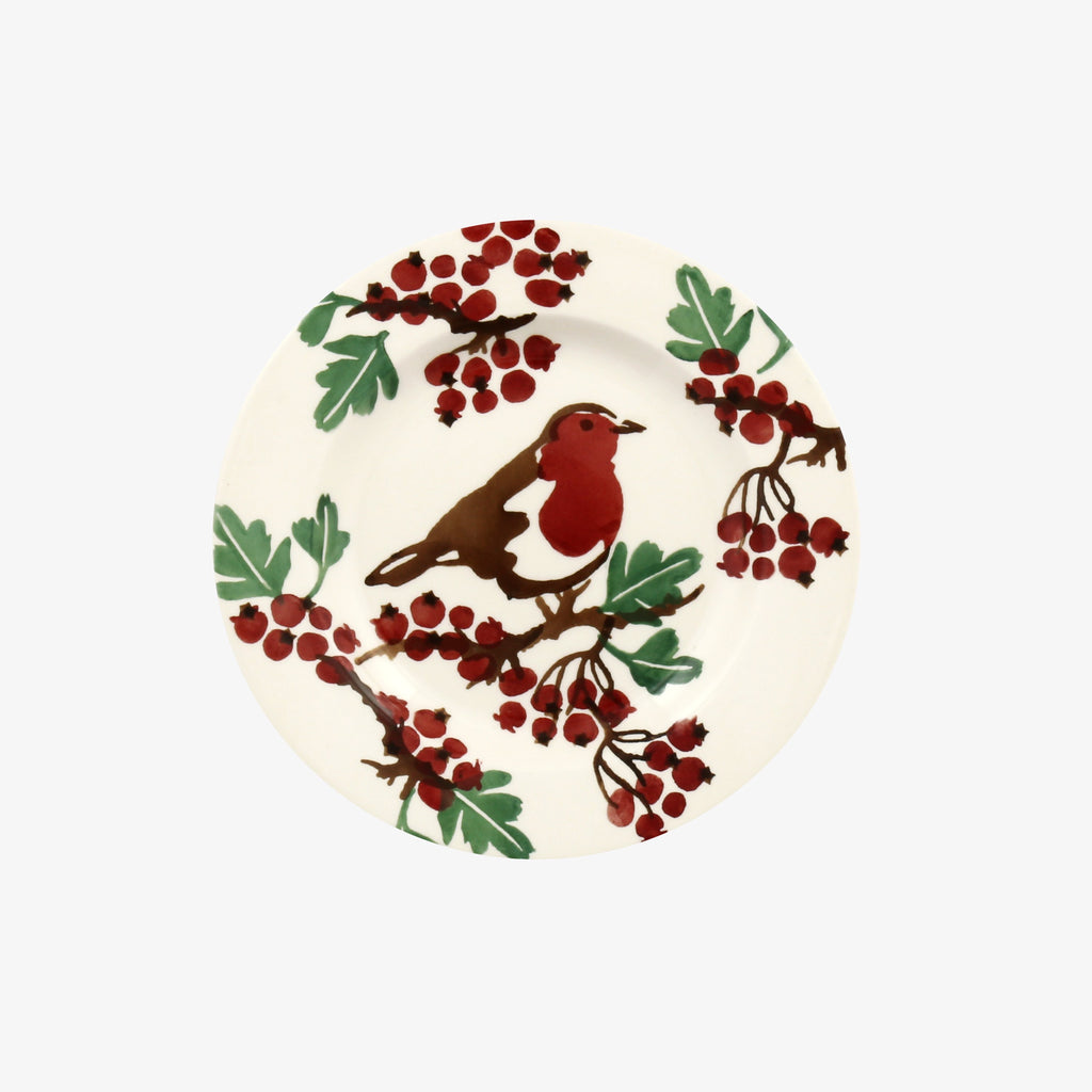 Hawthorn Berries & Robin 6 1/2 Inch Plate