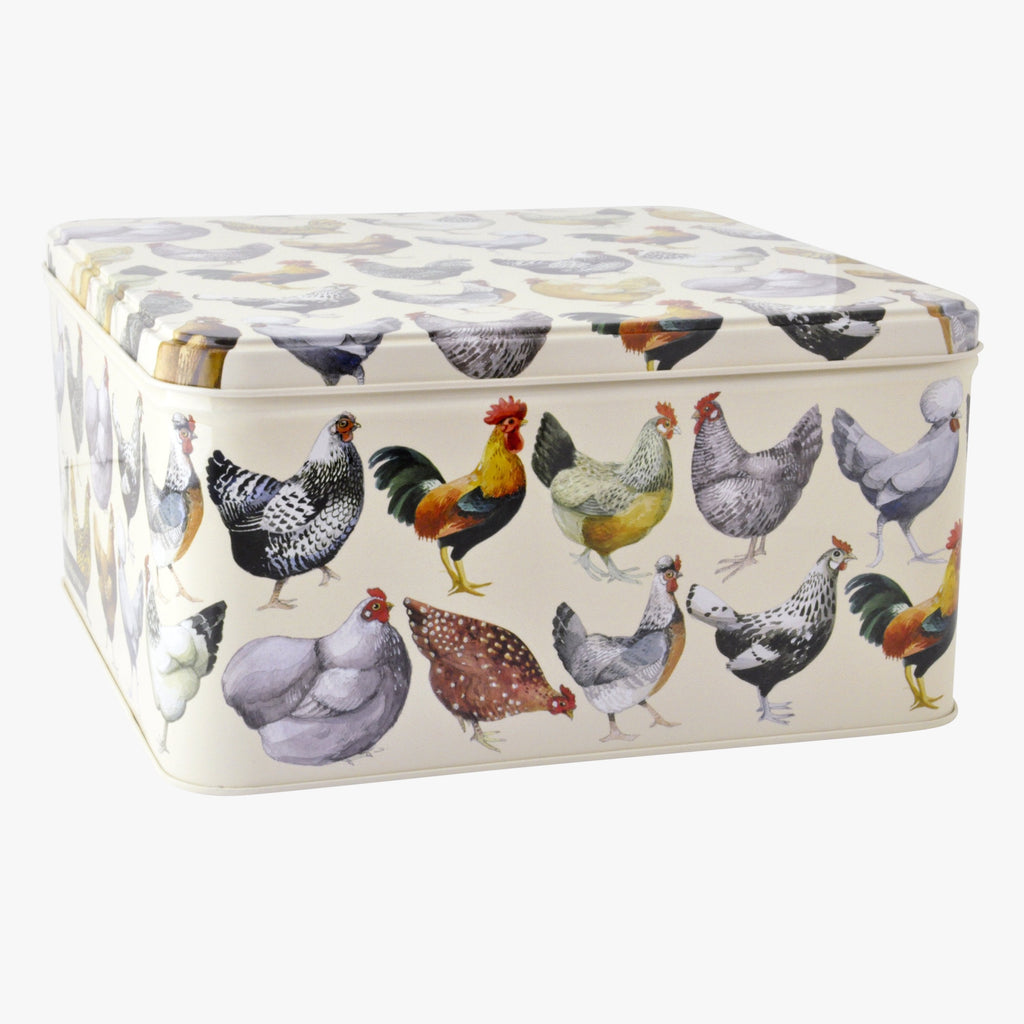 Hen & Toast Small Square Tin