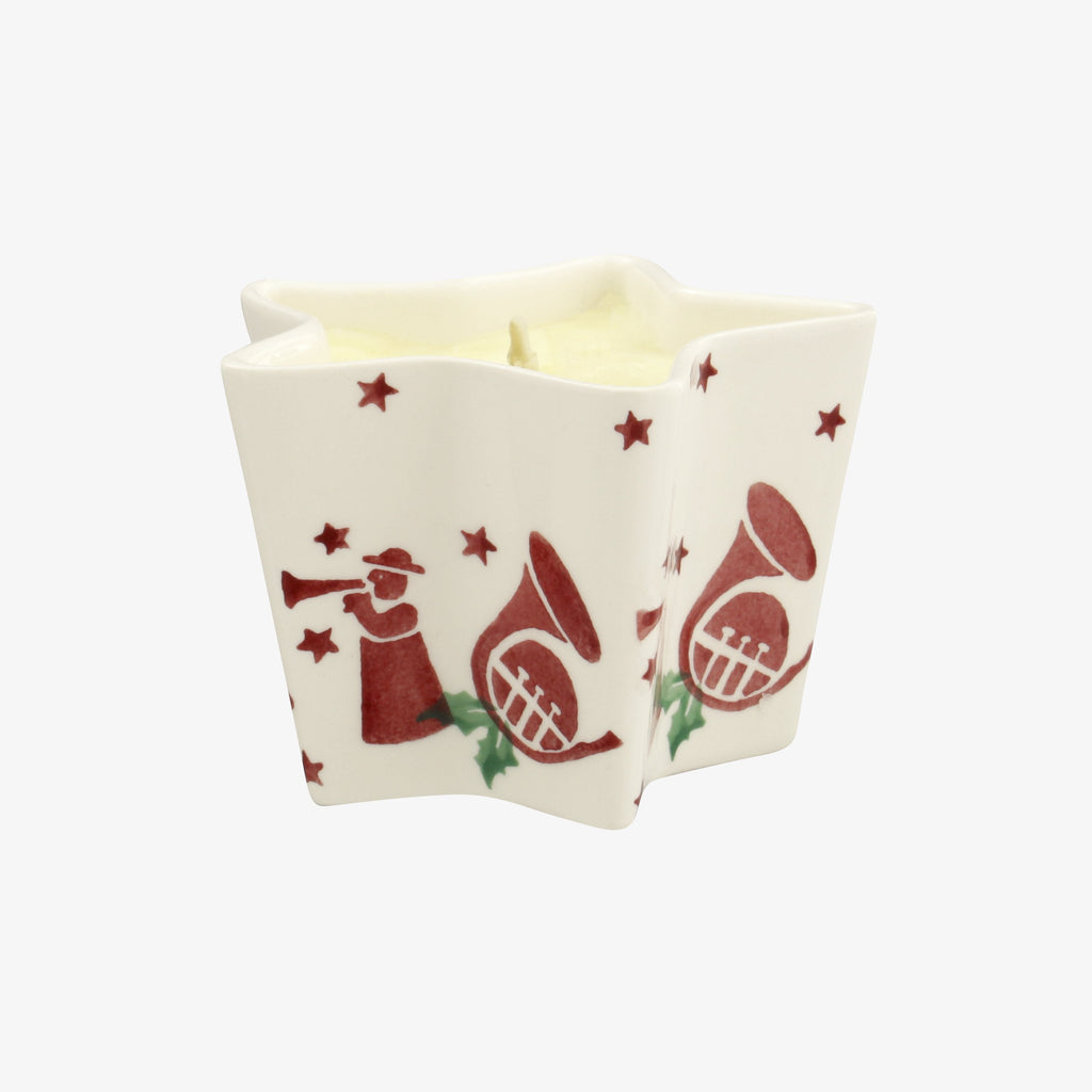 Joy Trumpets Small Star Candle
