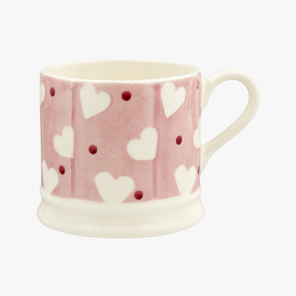 Pink Hearts & Dots Small Mug