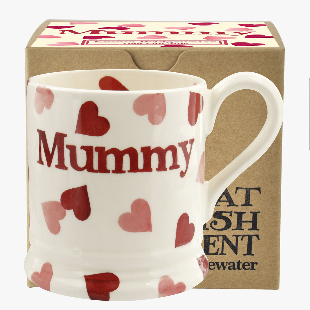 Pink Hearts 'Mummy' 1/2 Pint Mug Boxed