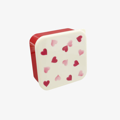 Pink Hearts Set of 4 Snack Boxes