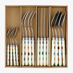 Polka Dot Set of 16 Cutlery