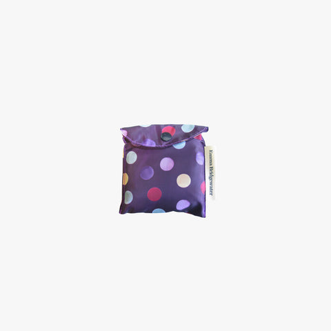 Purple Polka Dot RPET Foldaway Bag