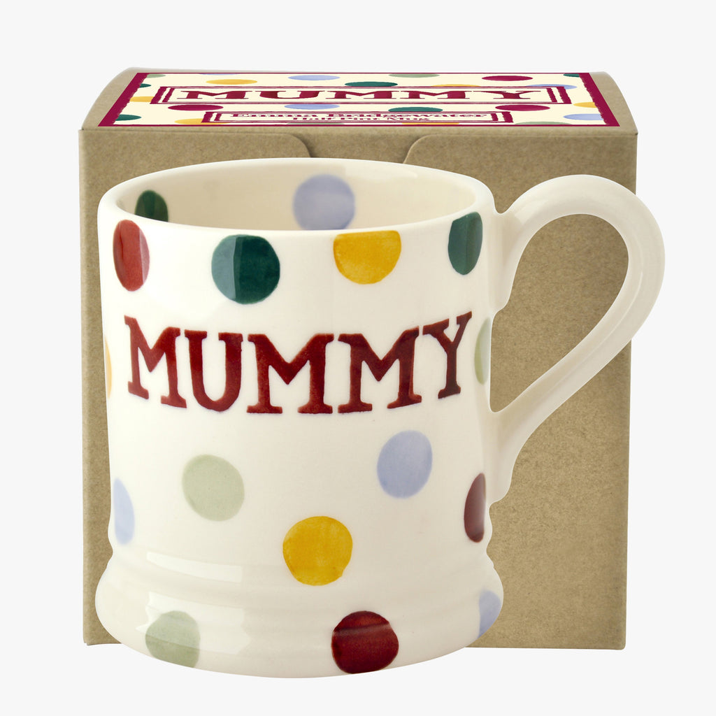 Polka Dot Mummy 1/2 Pint Mug Boxed