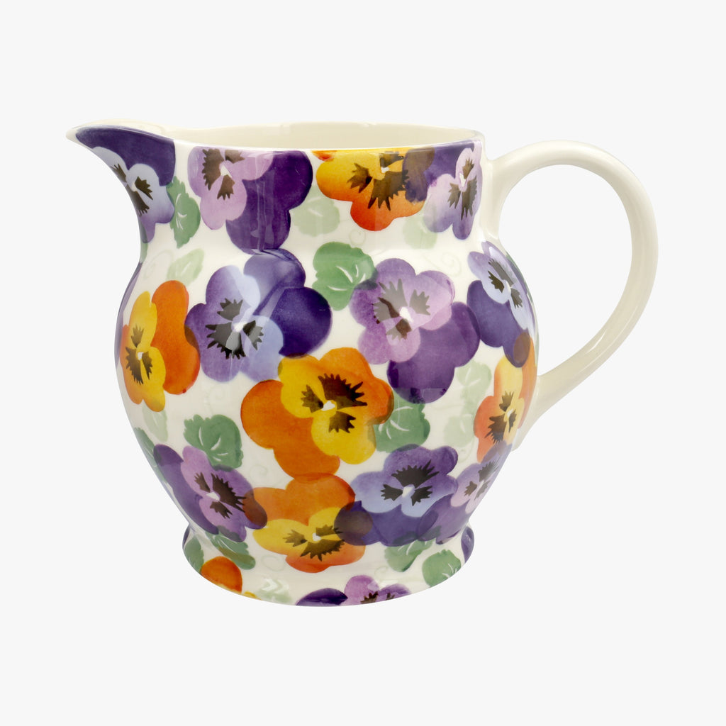 Seconds Purple Pansy 3 Pint Jug