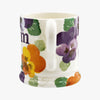 Purple Pansy 'Mum' 1/2 Pint Mug