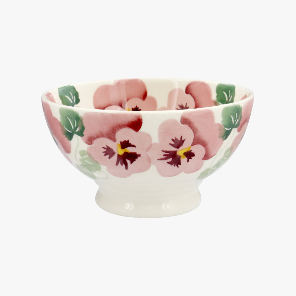 Seconds Pink Pansy French Bowl