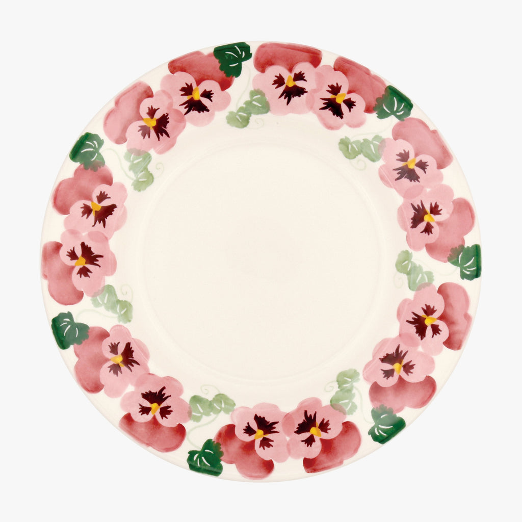 "Pink Pansy 10 1/2"" Plate"