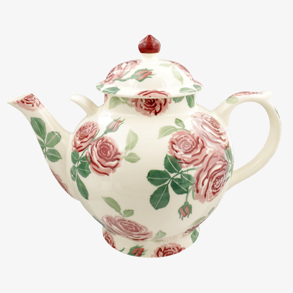Seconds Pink Roses Gallon Teapot