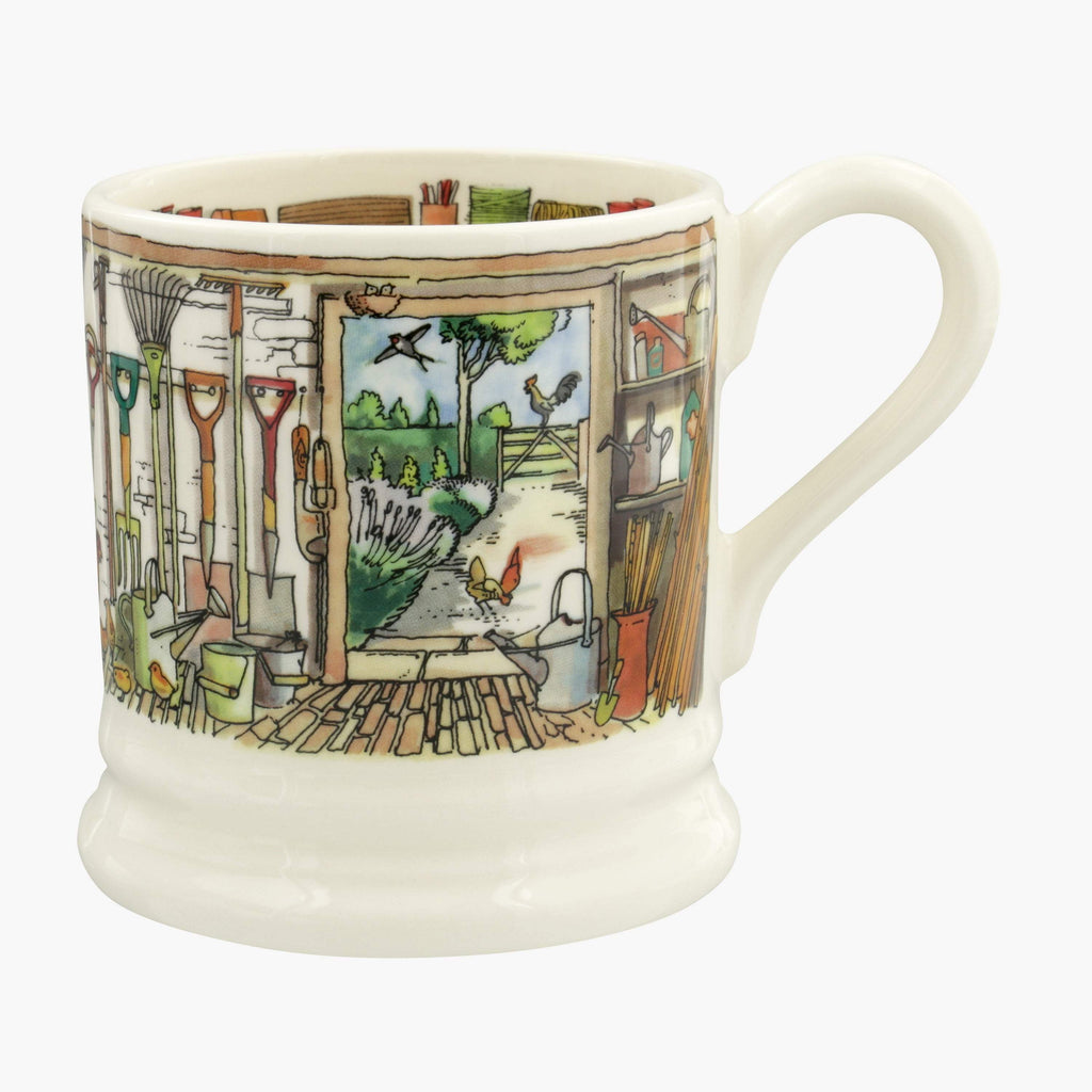 Seconds Setting Up Home Potting Shed 1/2 Pint Mug