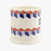 Red & Blue Tumbling Blocks 'Dad' 1/2 Pint Mug