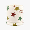 Seconds Red Green & Gold Star Grandma 1/2 Pint Mug