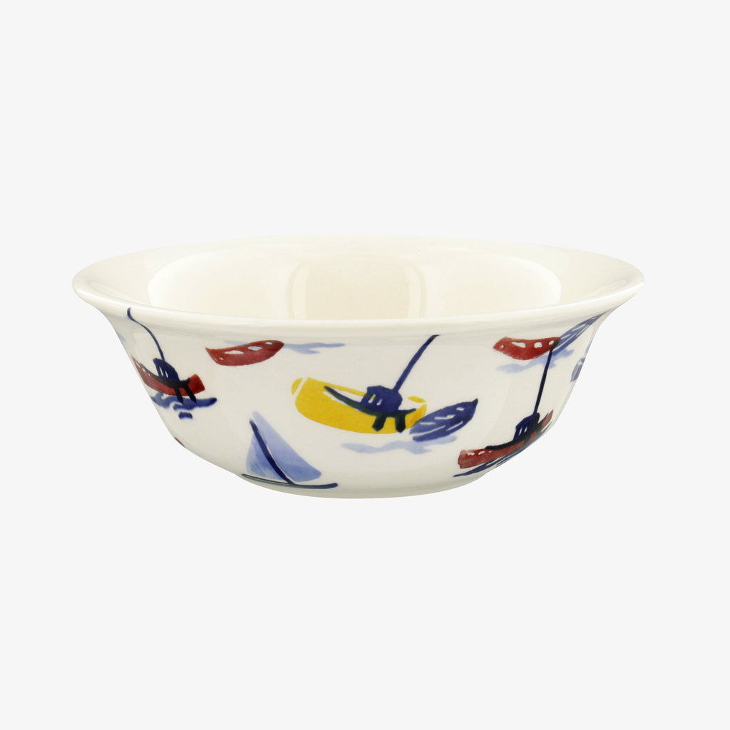 Shoreline Scattered Boats Cereal Bowl