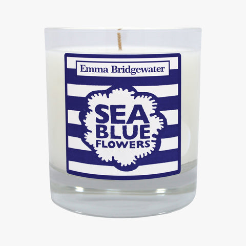 Sea Blue Flowers Candle