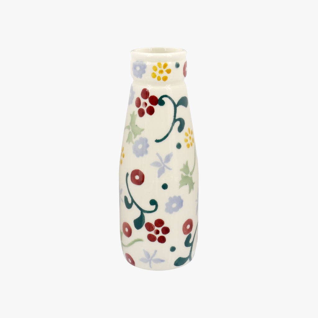 Seconds Spring Floral Small Milk Bottle