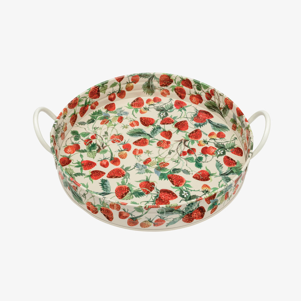 Vegetable Garden Strawberries Large Handled Tin Tray