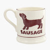 Seconds Bright Mugs Sausage 1/2 Pint Mug