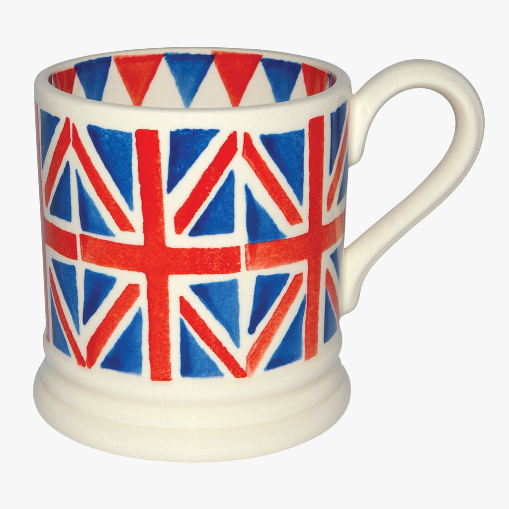 Emma Bridgewater Union Jack hand painted Mug - Made in the United Kingdom with English Earthenware designed with a hand painted Union Jack flag for tea and all things British.