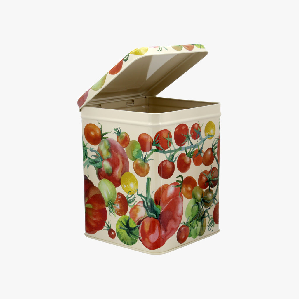 Tomatoes Large Square Tin Caddy