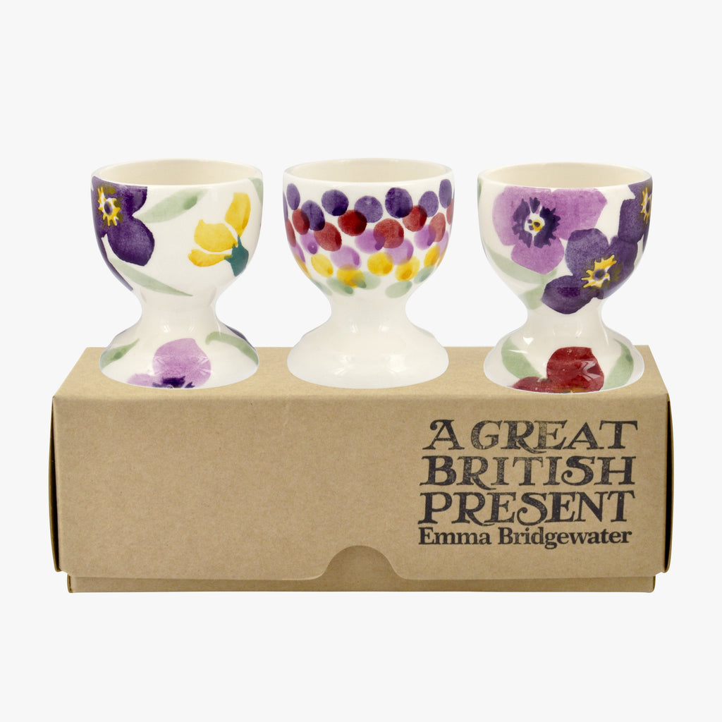 Wallflower Set of 3 Egg Cups Boxed