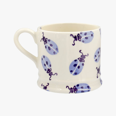 Personalised Blue Ladybird Small Mug